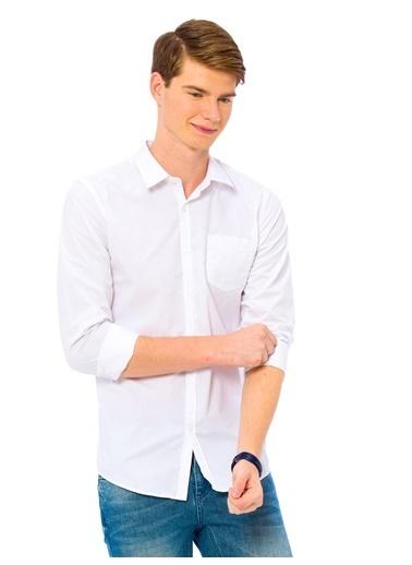 LC Waikiki Slim Fit Uzun Kollu Gömlek Beyaz